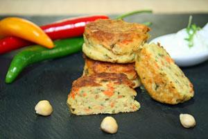 Falafel-Feta-Taler vegetarisch