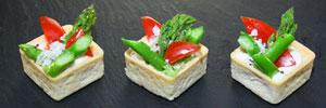 Tartelette mit grünem Spargel & Parmesan